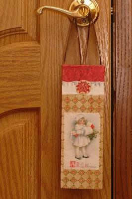 wooden door hanger on door handle