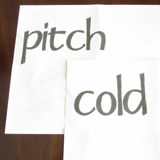 pitch cold printed on freezer paper