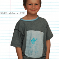 NOTE-able-a-TEE Printable Fabric Tutorial