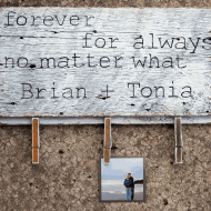 Forever, For Always Wall Hanging Tutorial