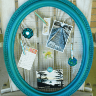 Tutorial Tuesday: Framed Wire Memo Board