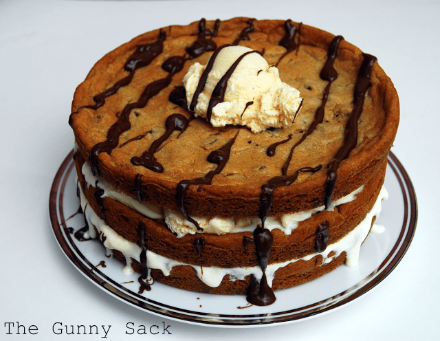chocolate chip cookie ice cream cake