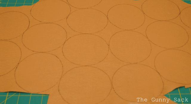 circles drawn on felt
