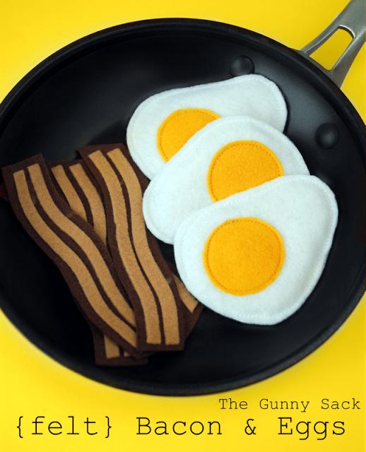 felt bacon and eggs