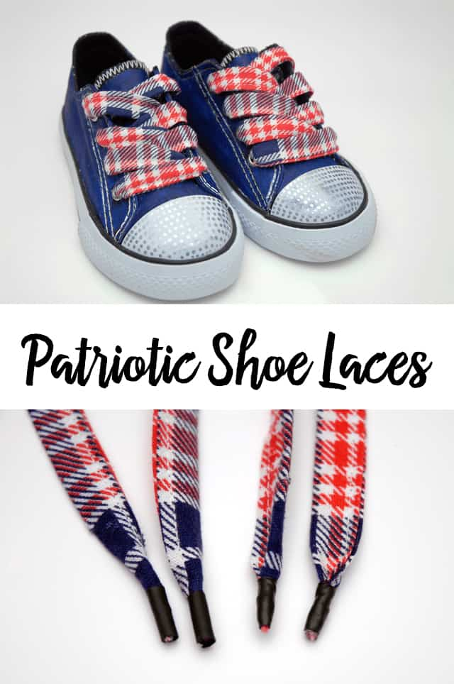 patriotic shoe laces photo collage