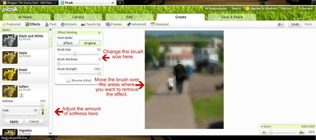 screenshot of how to use brush tool