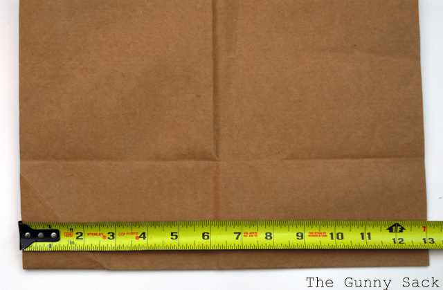 measuring tape on brown paper bag