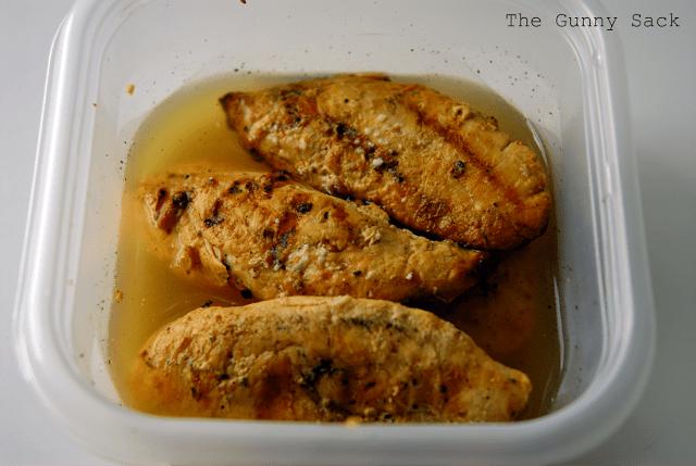 leftover grilled chicken