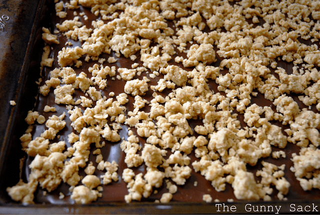 top with oatmeal crumble