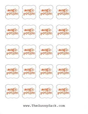 magic potion printable labels