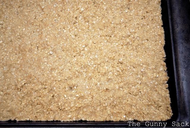 spread batter in pan
