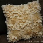 felt flowers on pillow