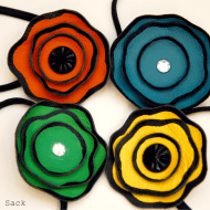 Painted Leather Flower Headband Tutorial