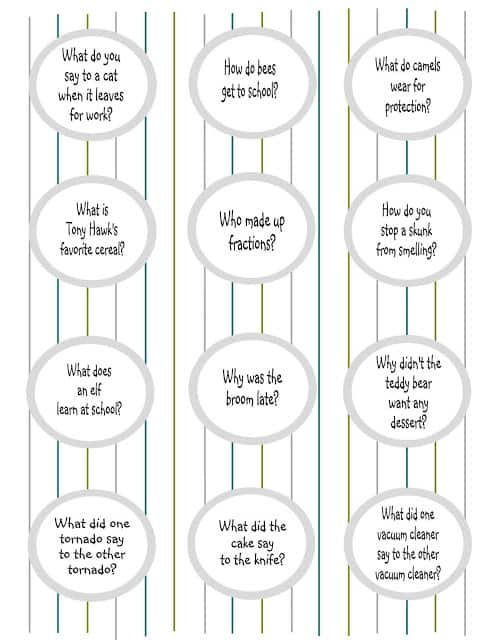 lunch box jokes printable