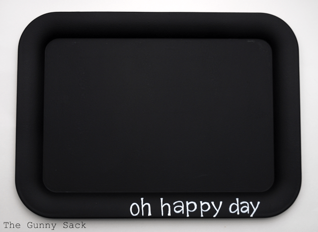 oh happy day written on tray