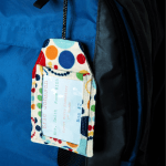 backpack tag on backpack