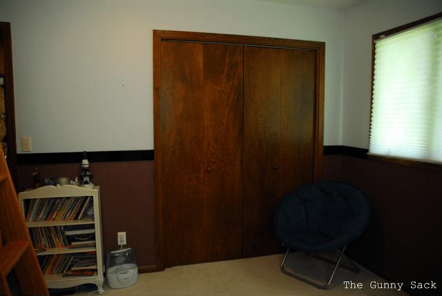 closet door in bedroom