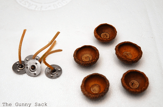wicks and acorn caps