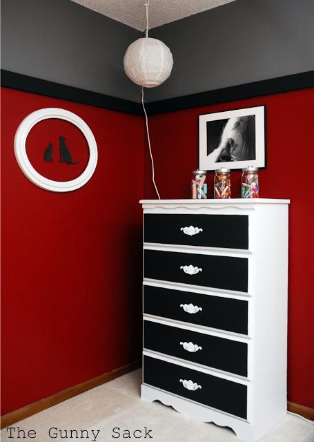 bedroom corner with dresser
