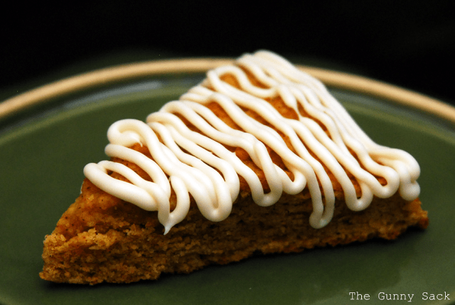 pumpkin scone slice