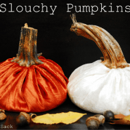 {Tutorial Tuesday} Slouchy Pumpkins