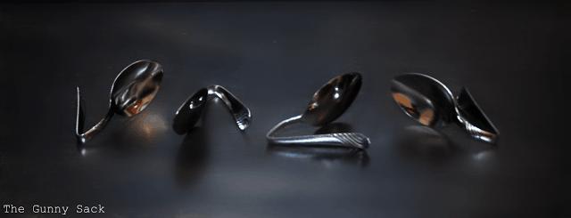 bent spoons
