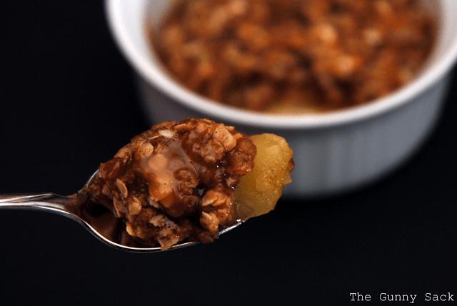 bite of apple crisp