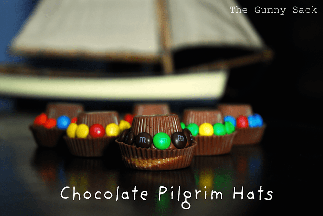 M&M Chocolate Pilgrim Hats