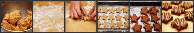 steps for making peanut butter stars