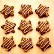 Chocolate Dipped Peanut Butter Stars with Cheerios #sendCheer