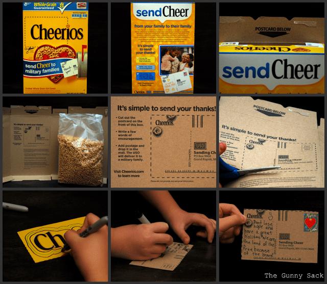 send cheer cheerios box