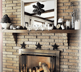 Christmas Fireplace and Mantel Reveal