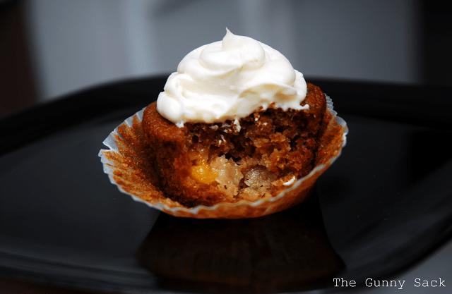 inside peach muffin