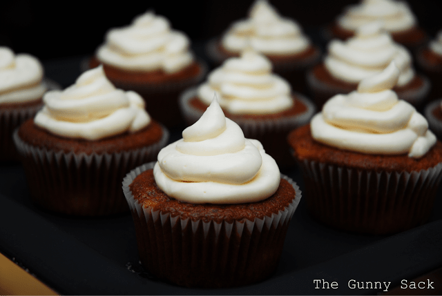peach muffins cream cheese frosting