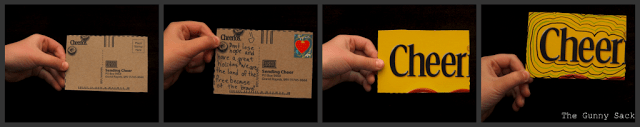 cheerios postcard