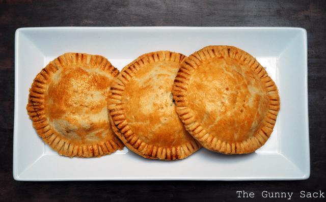 three baked pasties