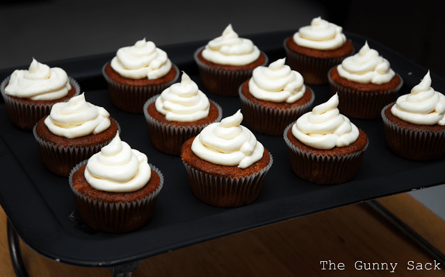 peach muffins with cream cheese frosting