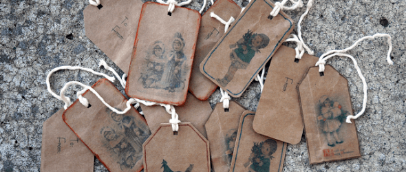 {Tutorial Tuesday} Vintage Brown Paper Gift Tags