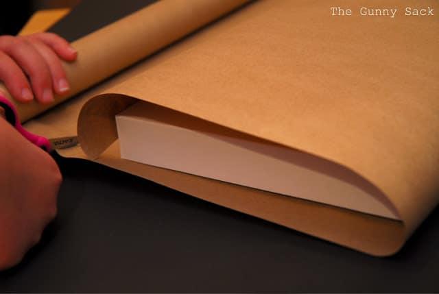 cutting kraft paper