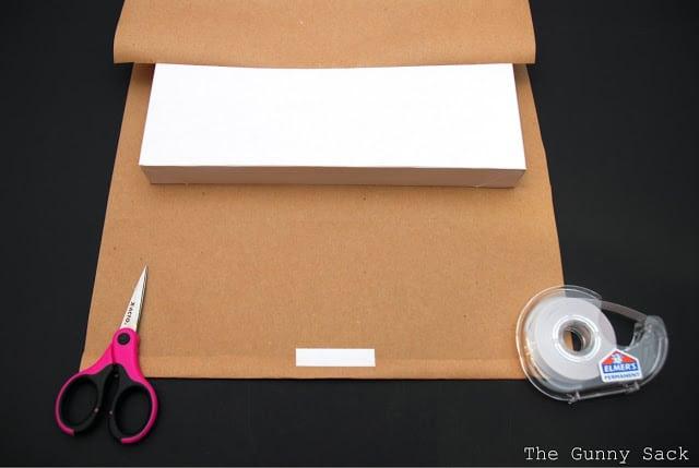taping kraft paper