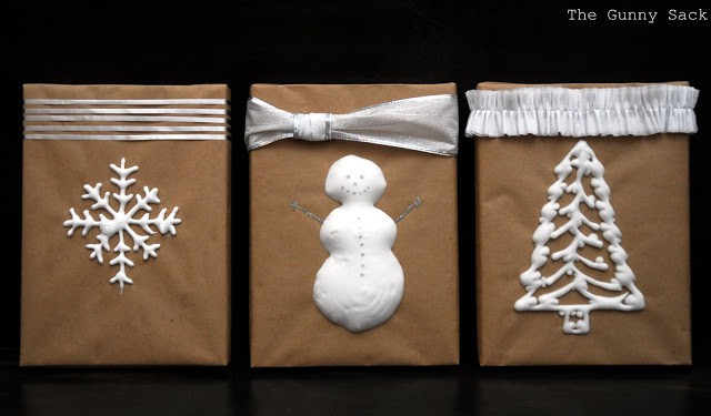 DIY puffy gift wrap
