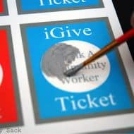 Scratch Off iGive Tickets For Community Service
