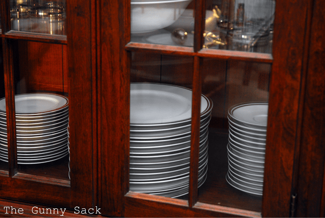 dishes in china hutch