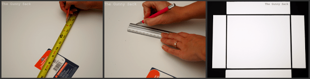 cutting the foam board