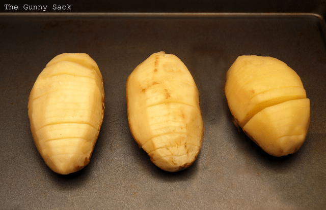 slices in potatoes