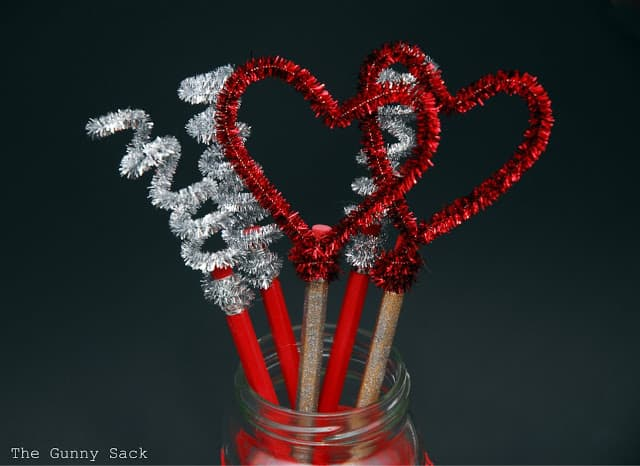pipe cleaners attached to pencils