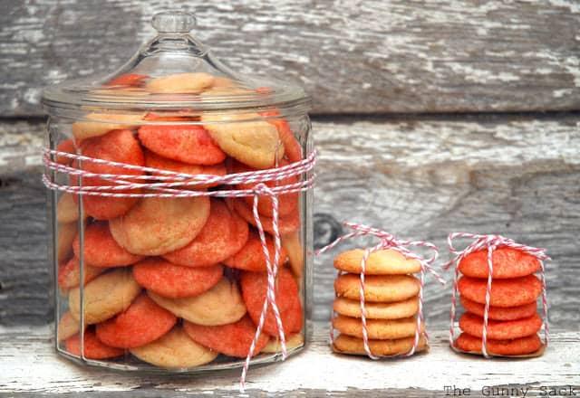 Pink Sugar Cookies In A Jar