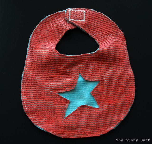Cut Out Star On Bib