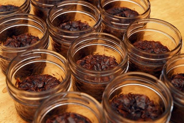 Brownies Baked In Jars