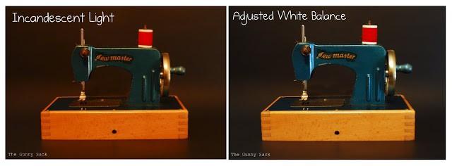 vintage sewing machines incandescent light